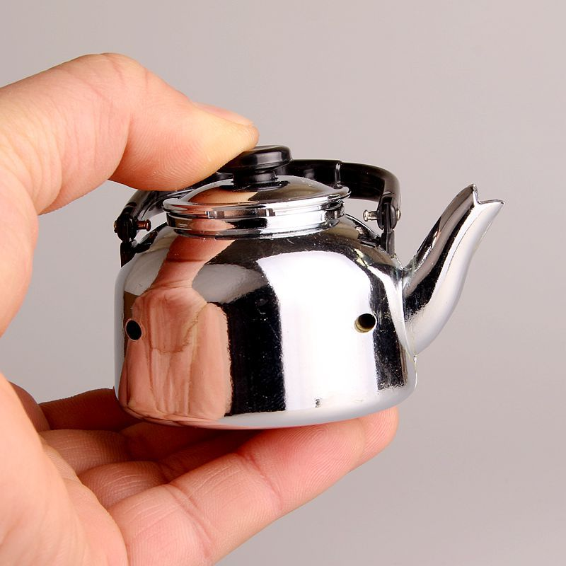 Image 3 - New Creative Compact Jet Gas Lighter Cigarette Accessories Teapot Lighter Inflated Butane Kettle Lighter NO GAS-in Matches from Home & Garden