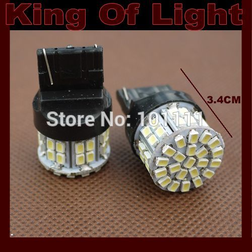 50x led Car styling bulbs tail light T20 W21W 50smd 7440 50 LEDS SMD 3020 1206 Turn lignt Free shipping
