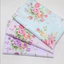 100*160 cm 100% baumwoll-twill tuch elagant pastoralen blau rosa lila rosa DIY für kinder bettwäsche kleid quilten decor telas tuch