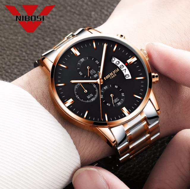 0d2387a0adc placeholder NIBOSI Relogio masculino Homens Relógios Top Marca de Luxo de  Negócios de Moda Relógio De Quartzo