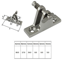 90 6Pcs/lot Marine 316 Stainless Steel Pipe Boat Deck Hinge 90 Degree Quick Release Removable Pin Rowing Boats Yacht Accessories (2)