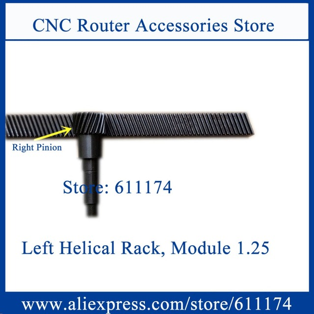 US $25 0  High precision Helical gear rack and pinion, Left handle helical  rack gear module 1 25 size 22*25*671mm cnc machine helical rack-in Gears