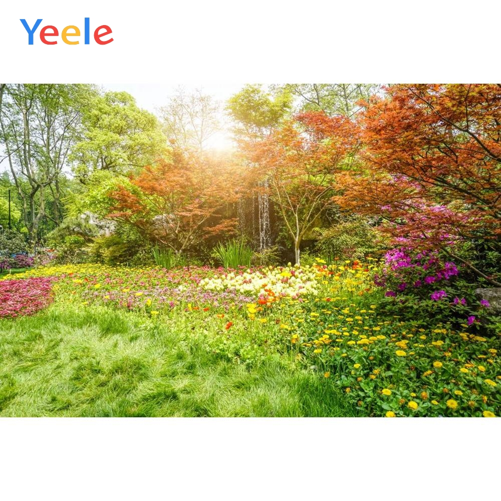 Yeele Vinyl Woodland Tree Flowers Outdoor Wedding Love Photography Background Birthday Party Photocall Backdrop Photo Studio