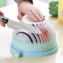 1 PCS Slicer Chopper Makes Tool Fruit Salad Plastic Fruit Shredders & Slicers Bowls Kitchen Tools Good Retail Packing