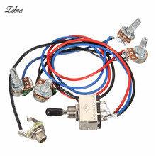 Zebra Wiring Harness 2V 2T 3 Way Toggle Switch 500K Pots For Guitar Dual Humbucker Replacement_220x220 compare prices on dual wiring harness online shopping buy low dual wiring harness replacement at gsmx.co
