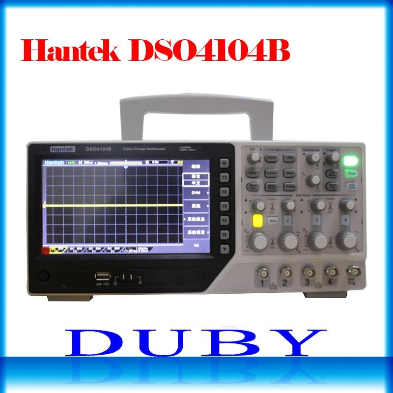 Hantek DSO4104B Type De Banc De Stockage Numérique Oscilloscope 100 MHz 4 Canaux 500uV/div 1GSa/s 7 ''TFT LCD Fiche Longueur 64 K USB