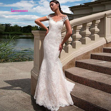 LEIYINXIANG New Arrival Bride Dress Wedding Vestido De Noiva Sereia Robe Sexy Mermaid Backless Lace Appliques Sweetheart