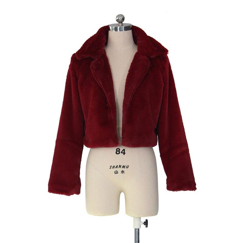 autumn winter faux fur coat short jacket-13