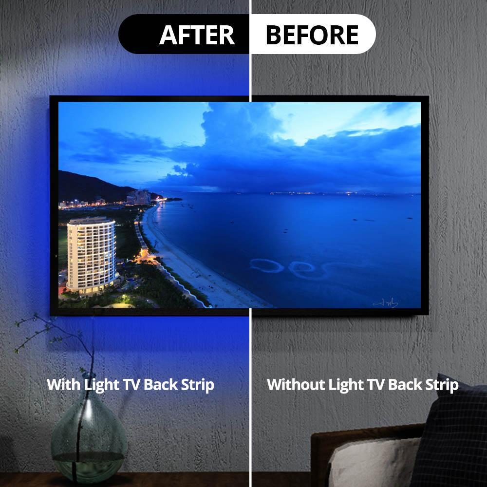 USB Led Strip Light Kit Bluetooth Controller RGB 5050 For TV Background light diode Tape IP20 IP65 Waterproof 0 5M 1M 2M in LED Strips from Lights Lighting