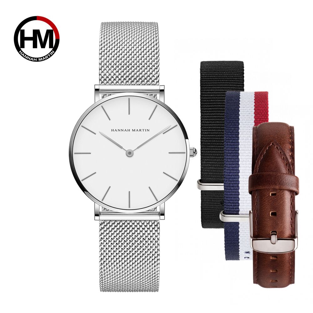 Image 2 - Dropship Women Watch Japan Quartz Design Waterproof Rose Gold Stainless Steel Mesh 1 set 3psc Band Lady watches relogio feminino-in Women's Watches from Watches