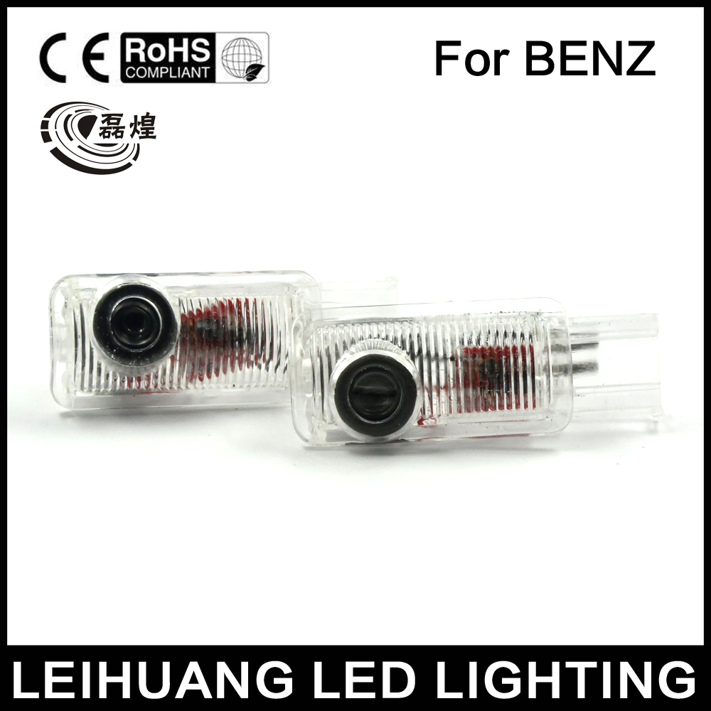 2pcs LED Door Light Courtesy Projector Fit For Mercedes-Benz ML GL R W251 W164 X164