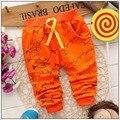 2015 Calças de Mola Para Bebê Menina de Algodão Cores Doces Rendas Menina Legging Calças Crianças Outono Calças de Marca Bebê 4-24 Meses