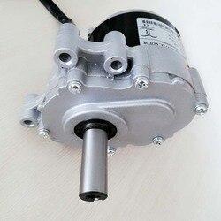 Низкоскоростной щеточный двигатель 250 Вт, 24 В, 120 об/мин, длинный вал 44 мм, диаметр вала 17 мм, для колесного стула, использованный щеточный двиг...