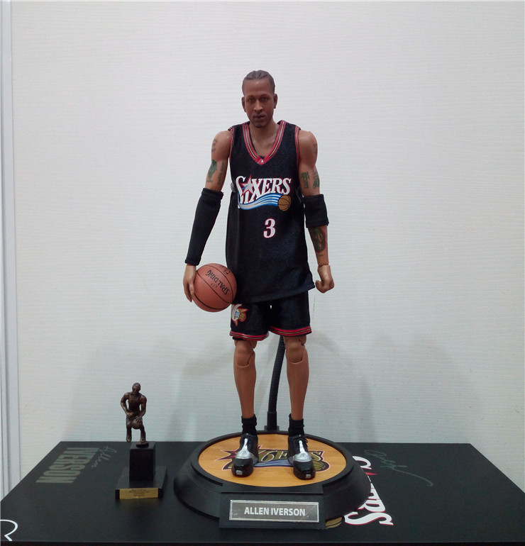 1/6 NBA Basketball Star Allen Iverson 3 Jersey Soldier Action Figure Model image