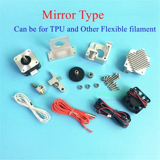 espelho tipo direct drive todos os metais titan aero extrusora v6 dissipador de calor kit completo