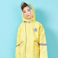 Baby Yellow Raincoat Children Waterproof Coat Rain Poncho Kids Raincoat Outdoor Girls Impermeable Lluvia Kids Rain Gear 40R0010