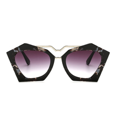 JUANBO Irregular Brand Sunglasses 2017 Super Fashion Cat Eye Women Sun Glasses Double Bridge Frame Luxury Designer Vintage New
