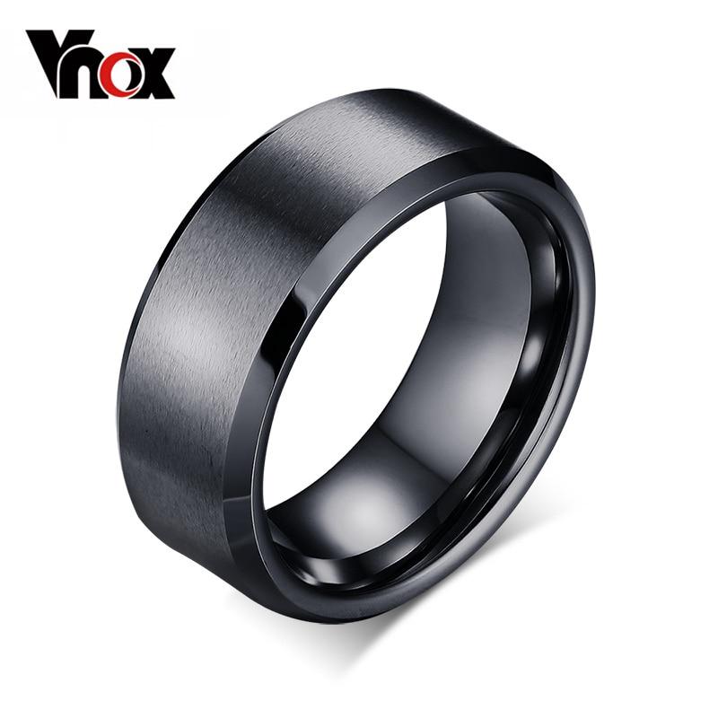 Prix pour Vnox classique tungsten anneau bijoux décent 8mm largeur