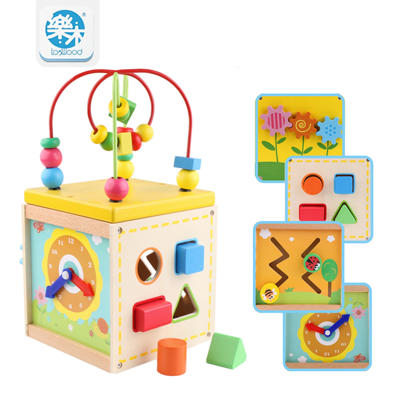 Baby wooden toys for children Wood Classic Multi Shape Sorter Block for Kids Gift juguetes brinquedos Multifunction box