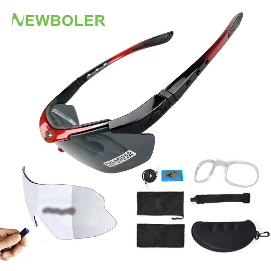 2b19a49eb8 NEWBOLER Photochromism lentes polarizadas ciclismo gafas de sol al aire  libre bicicleta deporte gafas de sol para hombres y mujeres de bicicleta MTB  gafas ...