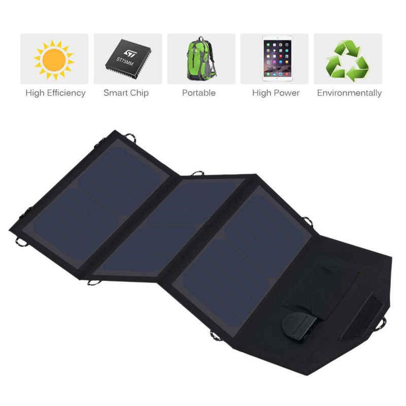 ALLPOWERS телефон зарядное устройство 21 Вт 18 в солнечные аккумуляторное зарядное устройство мобильного телефона USB/зарядные устройства постоянного тока для Смартфон ноутбук 12 автомобиля батарея