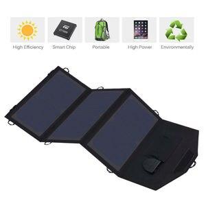 Image 2 - Allpowers 電話充電器 21 ワット 18 v ソーラーバティ充電器携帯電話の usb/dc 充電器スマートフォンラップトップ 12 12v 車のバッテリー