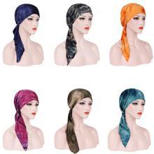 Hiyab musulmán para mujer, gorro de quimio para cáncer, turbante, cubierta interior, pañuelo para la cabeza para la caída del cabello, turbantes, Bandanas para Ramadán, Oriente Medio