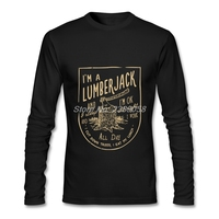 New Style Men S Tshirt Long Sleeve Lumberjack Song Elastic Unique Print Tee Shirts Cotton Mens