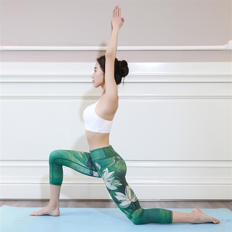 e8ffa2c965881 Aerfey 2017 New Women Lotus Flower Printed Yoga Pants Gym Capris Jogging  Running Dance Leggings-in Yoga Pants from Sports & Entertainment on  Aliexpress.com ...