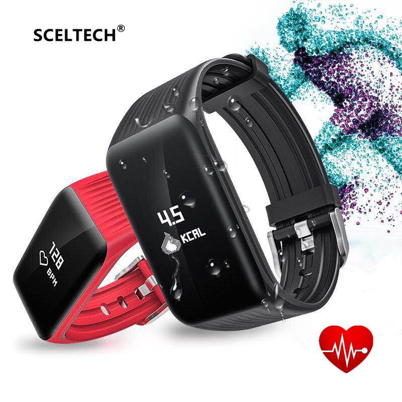 SCELTECH K1 Activity Tracker Men Sport Fashion Smart Watch HR Call Reminder Smart Bracelet Real-time Band for Running Sport