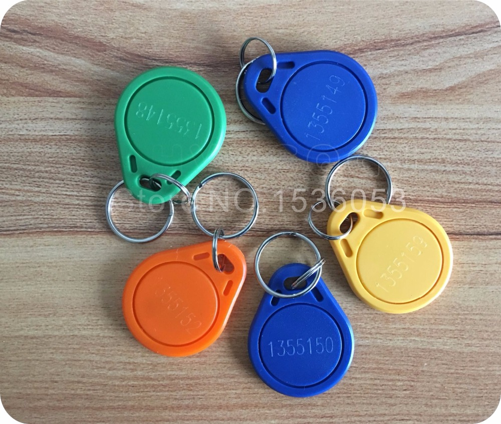 Iot Devices 500pcs/lot Free Shipping 125khz Proximity Em 4100/4102 Rfid Id Card Keychains Token Tags Key Fobs For Access Control System Cheap Sales 50% Ic/id Card