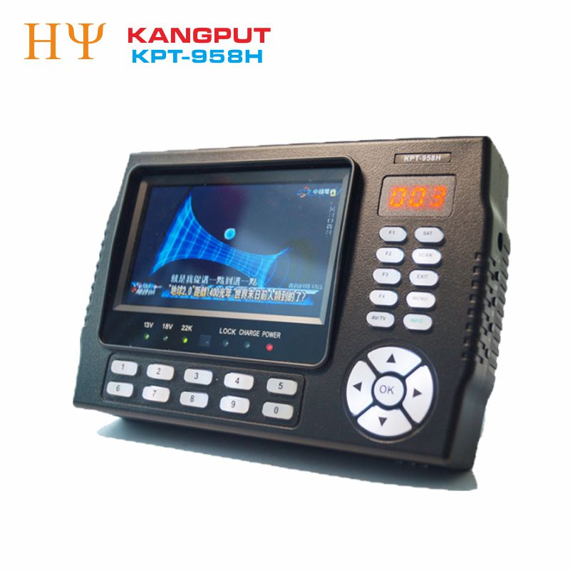 [Genuine] KANGPUT KPT-958H DVB-S2 MPEG4 HD Digital Satellite Finder Meter USB2.0 HD Output Sat finder Better satlink ws-6950 original dvb t satlink ws 6990 terrestrial finder 1 route dvb t modulator av hdmi ws 6990 satlink 6990 digital meter finder