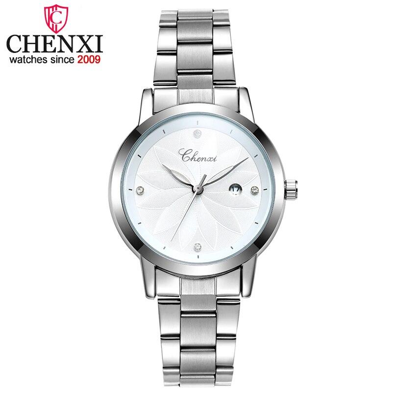 CHENXI Women Quartz Watches Ladies Top Brand Luxury Clock Wristwatches Female White Watch Girl 2018 Fashion Relogio Feminino