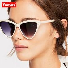 Yoovos 2019 New Cat Eye Sunglasses Women Brand Designer Candy Color Vintage Sun Glasses Outdoor UV400 Oculos De Sol
