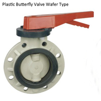DN65 PVC RPP PVDF Wafer type Butterfly Valve, UPVC Wafer Type Butterfly Valve, Plastic Butterfly Valve For Corrosion resistance