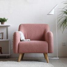 цена на Modern Solid Wood Hotel Sofa Coffee Shop American Sofa Family Study Bedroom Restaurant Furniture Leisure Nordic Back Chair