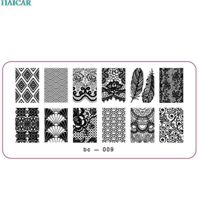 DIY Nail Art Image Stamp Stamping Plates Manicure Template BC-009 Nail polish&Stamping tool  ar12 Levet dropshipdropship