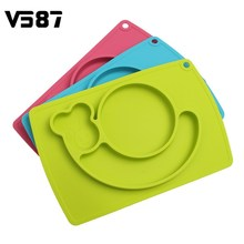 Dinner Plates Snail Baby Kids Children Tableware Meal Dinnerware Integrated Sub-grid Silicone Food Dishes  sc 1 st  AliExpress.com & Buy snail dishes and get free shipping on AliExpress.com