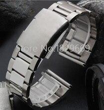 18 mm 20 mm 22 mm 24 mm 26 mm 28 mm 30 mm nueva plata hombres alta calidad en acero inoxidable venda de reloj