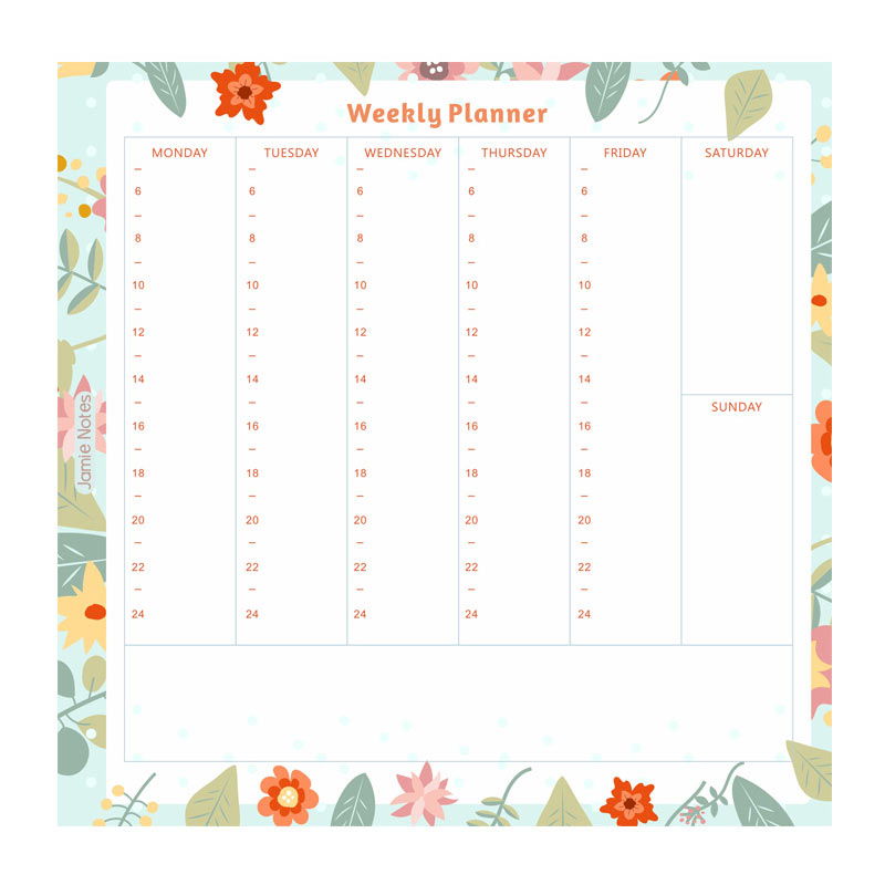 Yiwi Notebook Filler Time Planner Pages Inside Papers 20 Sheets - weekly planner pages