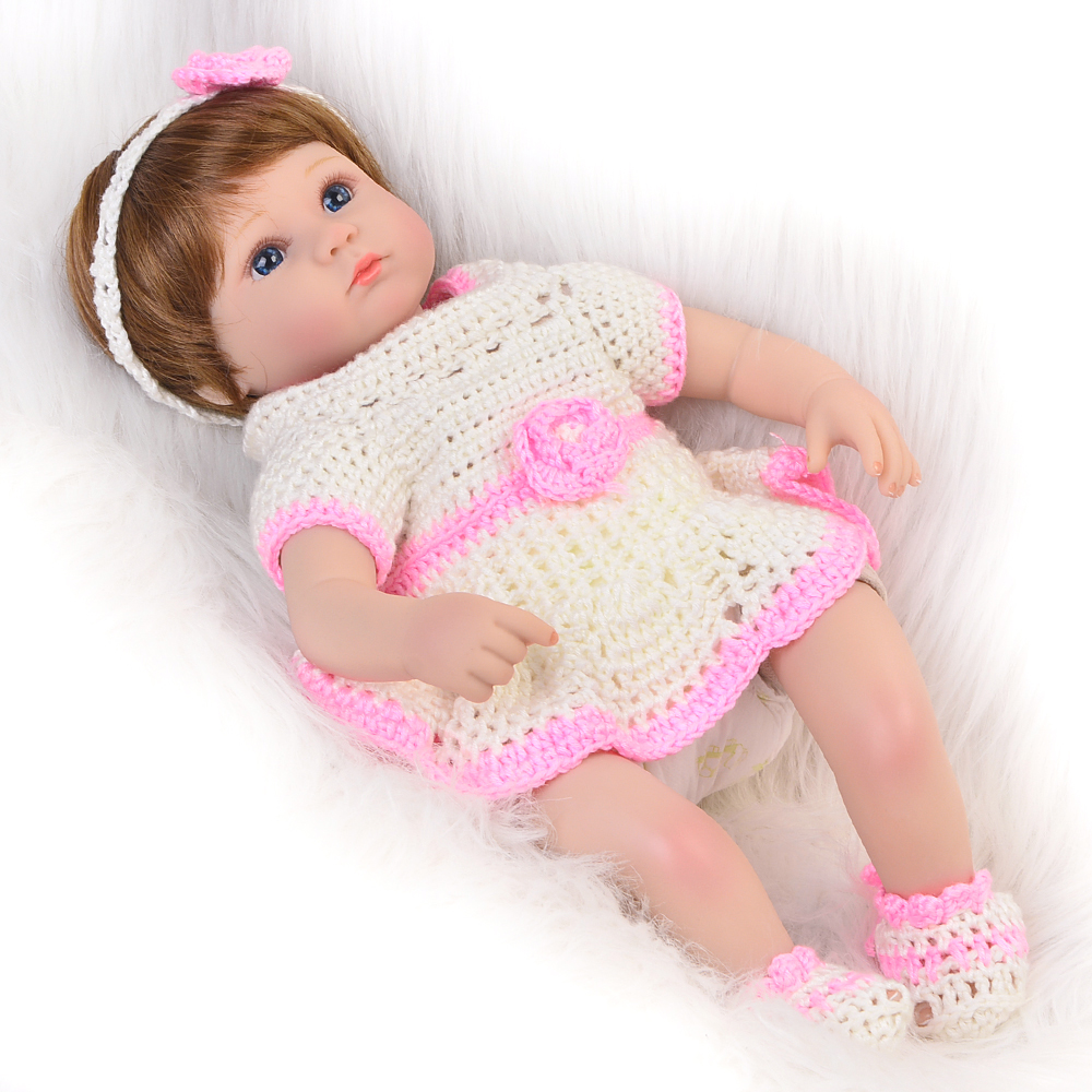 Lifelike Doll Reborn 17'' Lifelike Princess Soft Reborn Silicone Bonecas Children 2018 Birthdays Gift Vinyl Baby Toy Cloth Body lifelike american 18 inches girl doll prices toy for children vinyl princess doll toys girl newest design