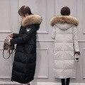 Новая зимняя женская пуховая куртка с меховым воротником теплая одежда беременности материнства пуховик ветровки женские зимние куртки 16908