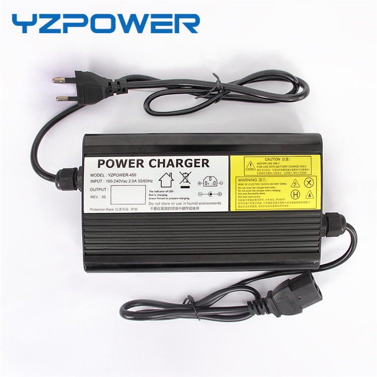 YZPOWER 58.4V 5A 4.5A Lifepo4 Lithium Battery Charger For 48V Battery Pack Ebike Electric Bike Aluminum Case