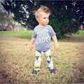 Newborn Baby Boy Clothes Letter T-shirt Tops Pants Leggings Outfits Clothes Set 0-24 M