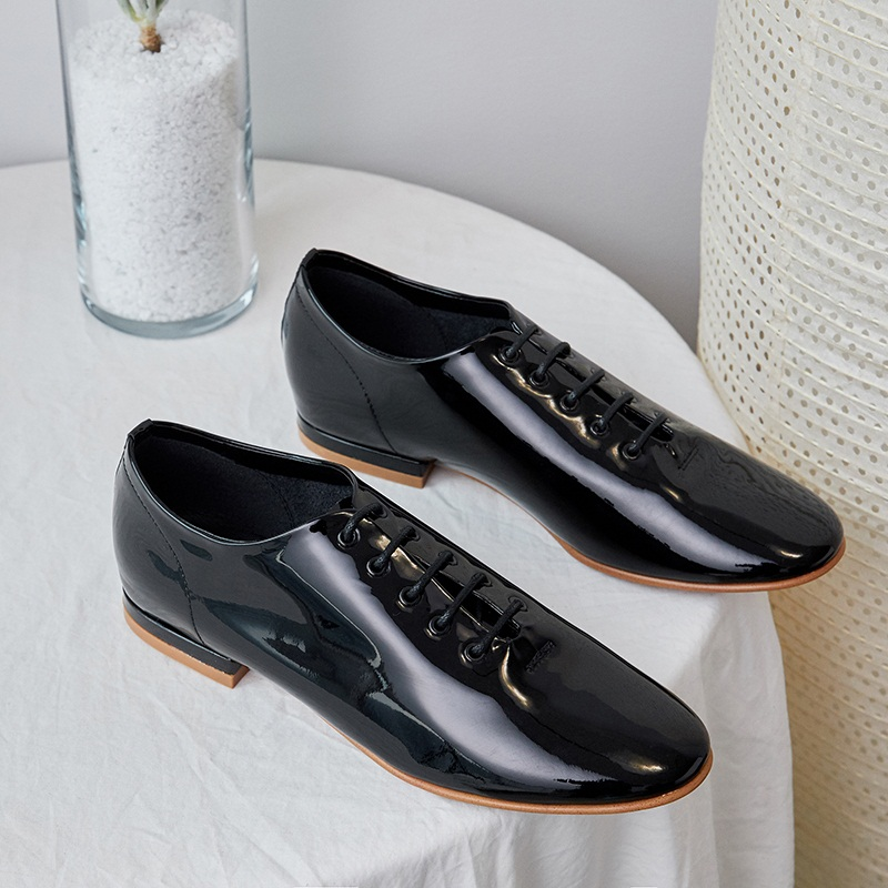 Grande taille printemps été femmes oxfords chaussures décontracté femmes appartements marque chaussures en cuir véritable mocassins à lacets mocassins ballet plat-in Mocassins from Chaussures    3
