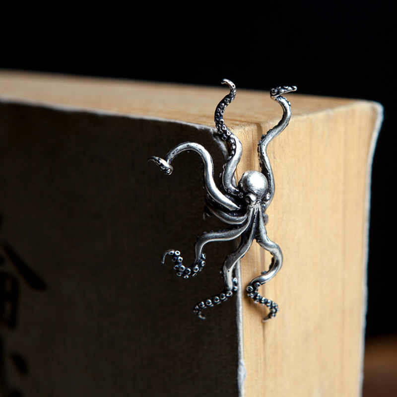 f0dd33009 ... UMGODLY Retro Punk Deep Sea Big Octopus Ear Clip S925 Sterling Silver  Hyperbole Earrings Non Perforated ...