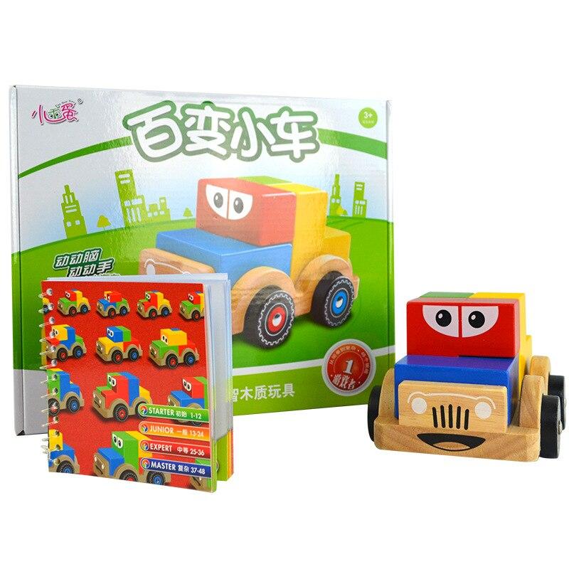 Nouveau jeu de Puzzle de voiture de variété en bois créatif Montessori intelligent avec Solution Interactive IQ jouets d'entraînement pour les enfants