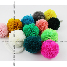 4pcs Yarn pompoms 60mm -2.4 inch pom balls 12colors handmade quality material for accessory
