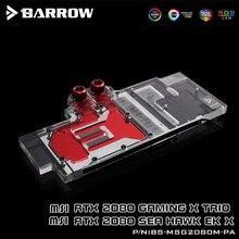 BARROW Water Block use for MSI RTX2080 GAMING X TRIO / SEA HAWK EK Support Original Backplate 5V 3PIN Header RGB