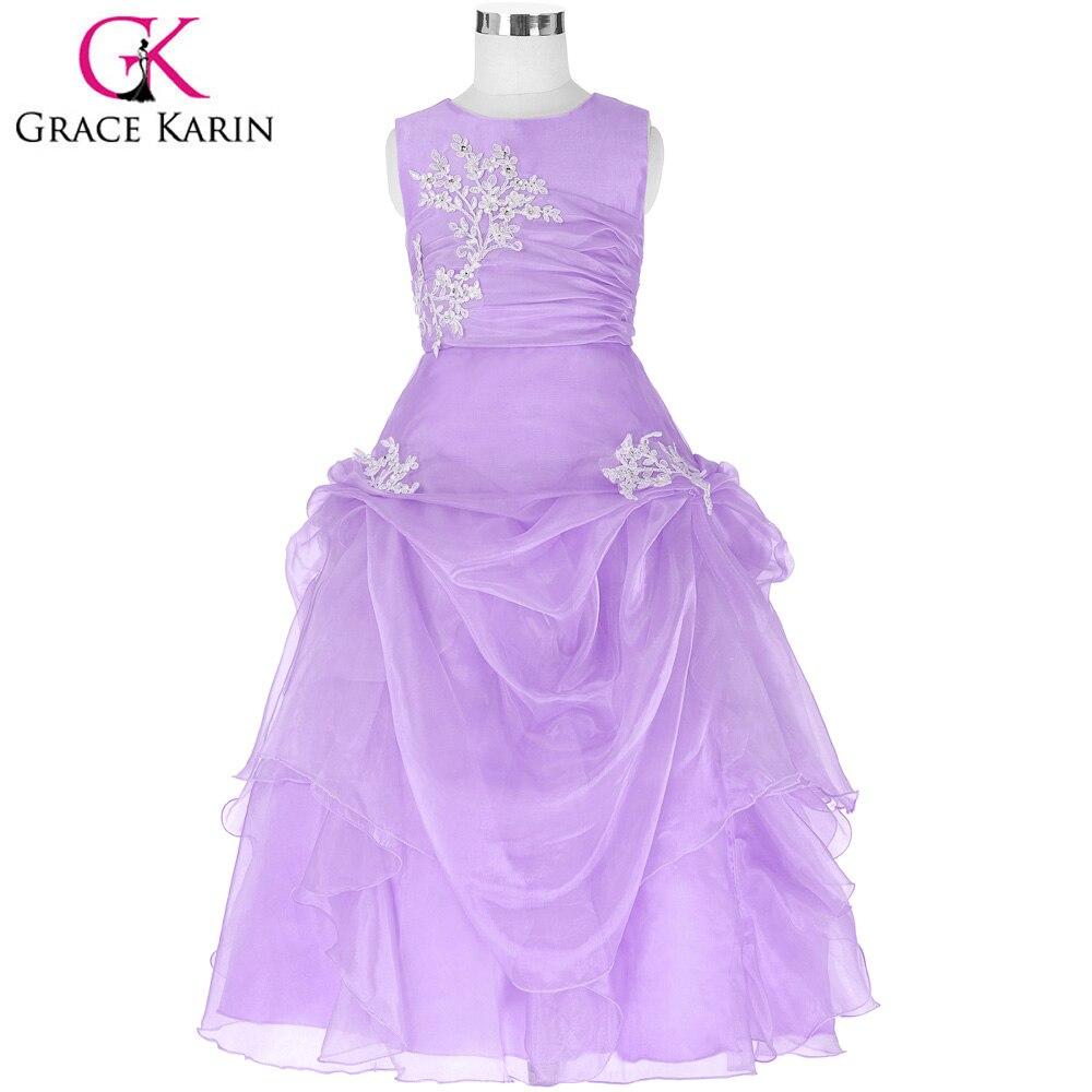 Grace karin lange blumenmädchen kleider kinder kinder hochzeit kleid formale partei festzug kleid prinzessin mädchen abendkleid in Grace karin lange ...